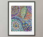 Lg Canvas and Fine Art Prints Prism Kaleidoscope Contemporary Painting Abstract
