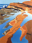 "Limited Edition Serigraph ""Tide Pools"" Calif Coast  Signed/Numbered"