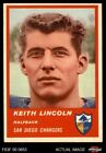 1963 Fleer #70 Keith Lincoln Chargers Washington St 5 - EX $31.0 USD on eBay