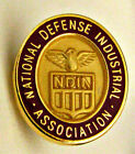 ⫸ 332 Pin - Vintage NDIA National Defense Industrial Ass'n Red Enamel Lapel