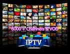BEST PREMIUM IPTV Server 6500 Chan  VOD  SMART MAG Android FireStick New