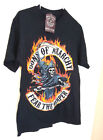 SONS OF ANARCHY FEAR THE REAPER S/Slv T-Shirt ADULT SIZE M BLACK 100% cotton NWT