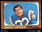 1966 Topps #127 Keith Lincoln Chargers EX/MT $8.0 USD on eBay