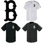 Boston Red Sox Striped Button Jersey Baseball Open T-Shirts Uniform 0096 on Ebay