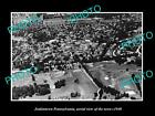 OLD HISTORIC PHOTO OF JENKINTOWN PENNSYLVANIA, AERIAL VIEW OF THE TOWN c1940