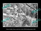 OLD HISTORIC MILITARY PHOTO PONT A VENDIN FRANCE, AERIAL VIEW WWII BOMBING c1940