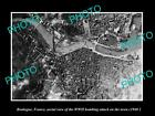 OLD LARGE HISTORIC MILITARY PHOTO BOULOGNE FRANCE, TOWN BOMBING AERIAL VIEW 1940