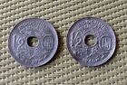 Replyca 2 coins 1/2 cent 1939-1940 Vietna French Indochine Indo-china Francaise