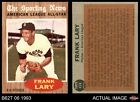 1962 Topps #474 Frank Lary - All-Star Tigers EX