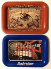 1990's Budweiser Anheuser Busch Brewing Trays Lot Of 2 Reproduction Trays
