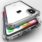 For iPhone 8 7 6 Plus XS Max XR Clear Shockproof Silicone Protective Case Cover