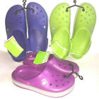 Crocs ADULT Crocband Clogs Viola/Lt Gray, Volt Green, Cerulean Blue Pick sizes