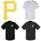 Pittsburgh Pirates Striped Button Jersey Baseball Open T-Shirts Uniform 0113 on Ebay