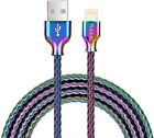 Metal Coiled USB Lightning Charging Cable Compatible with Phone XS 8 3.3 Feet