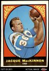 1967 Topps #124 Jacque MacKinnon Chargers EX $1.85 USD on eBay