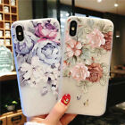 Girl's Ladies Flower Pattern TPU Phone Back Cover Case For X/XS/5/67/8/XR/XS MAX