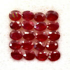 8.64 Cts Natural Red Ruby Offer Sale 5x4 mm Oval Cut Lot 20 Pcs Burma Gemstone