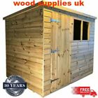 Pent Shed Pressure Treated Tanalised T&G Timber