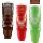 18 oz Party Cups, 96 Count - Brown, Red, Lime Green - 32 Each Color
