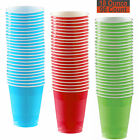 18 oz Party Cups, 96 Count - Aqua, Red, Lime Green - 32 Each Color