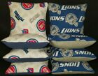 Set Of 8 Detroit Lions Pistons Basketball Cornhole Bean Bags FREE SHIPPING on eBay