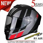 Scorpion EXO R1 Air Corpus Motorcycle Racing Full Face Helmet│Black/Red│All Size