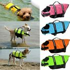 USA Pet Safety Vest Dog Life Jacket Reflective Stripe Preserver Puppy Swimming