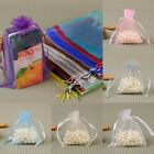 Small White Organza Bags Wedding Favours Pouches Net Jewellery Candy Bag 10x15cm