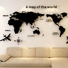 3d Mirror World Map Art Removable Wall Sticker Acrylic Mural Decal Home Decor