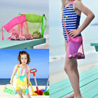 Mesh Summer Beach Bag Kids Pack Tote Portable Carrying Toys Ball Storage Pouch A