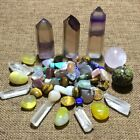 Natural Quartz crystal fluorite wand dragon blood stone ball with gravel*5291