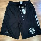 Los Angeles LA Kings NHL Adidas Climalite 3-Stripes Black Center Ice Shorts on Ebay