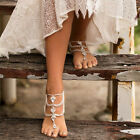 1pc Bohemian Rhinestone Anklet Beach Barefoot Sandals Foot Chain Women Jewelry image