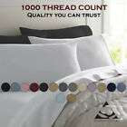 Feel Luxury Comfort 1000 Thread Count 100% Egyptian Cotton Solid Bed Sheet Set image