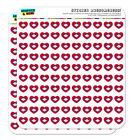 Arkansas State Flag Heart Shaped Planner Calendar Scrapbook Craft Stickers