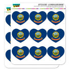 Idaho State Flag Heart Shaped Planner Calendar Scrapbook Craft Stickers