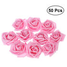 50x Artificial Roses Flowers for Home Wedding Decoration Bridal Shower Favor