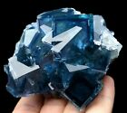 439g WOW!!! Large Particles Blue Cube Fluorite Crystal Mineral Specimen/China
