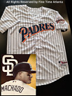NEW Manny Machado San Diego Padres Mens 1992 2003 Style Home White Retro Jersey