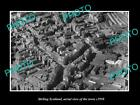 OLD LARGE HISTORIC PHOTO OF STIRLING SCOTLAND, AERIAL VIEW OF THE TOWN c1950 3