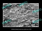 OLD LARGE HISTORIC PHOTO OF STIRLING SCOTLAND, AERIAL VIEW OF THE TOWN c1950 1