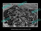 OLD LARGE HISTORIC PHOTO OF STIRLING SCOTLAND, AERIAL VIEW OF THE TOWN c1950 4