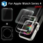 2IN1 For Apple Watch Series 4 Full Cover 9D Screen Protector+Silicone Case 44mm