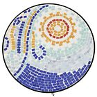 Outdoor Accent Table Mosaic Glass Top Side End Patio Indoor Chairside Plant Smal