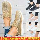 Women's Sequin Glitter Sneakers Tennis Ladies Casual Comfort Athletic Shoes Size