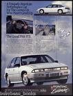 1990 Pontiac GRAND PRIX advertisement, Pontiac Grand Prix STE