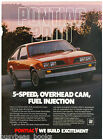 1983 PONTIAC 2000 advertisement, Pontiac 2000 red sports car