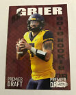 2019 SAGE HIT Premeir Draft Will Grier ROOKIE RC Mountaineers #44 Panthers