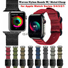for Apple Watch Band Series 4 3 2 44mm 42mm  40mm 38mm Woven Nylon Sport Strap image