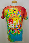 M&M's Candy Chocolate T-shirt Red & Yellow Characters Tee Cotton Tie Dye NWT